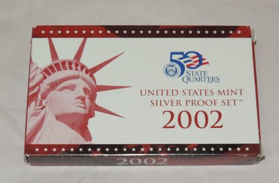 2002 US Mint Silver Proof Set