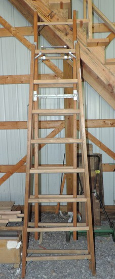 Louisville Wooden Center Extension Ladder