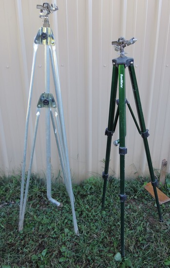 (2) Lawn Sprinklers on Stands