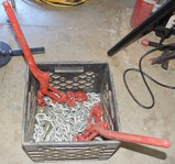 220' Heavy Duty Log Chains & 2 Binders