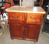 2 Drawer 2 Door Roll Around  Wood Cabinet