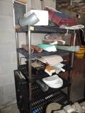 Metal & Plastic Shelf Lot