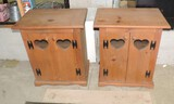 2 Heart Cut Out 2 Door Cabinets