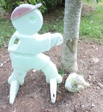 White Concrete Duck and Plastic man