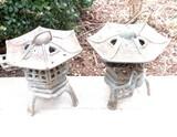 (2) Metal Japanese Lanterns