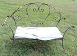 Ornate Iron Bench