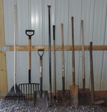 Lot of Long Handled Tools