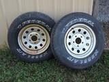 (2) Tires on Chrome Rims