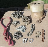 Lot Of Chains & Tie Downs