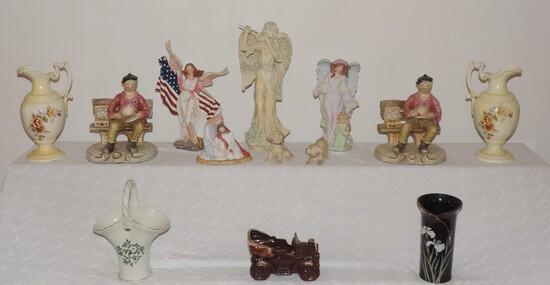Lot of Ceramics and Porcelain Figures
