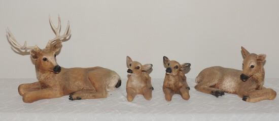 Lot of (4) Resin Deer