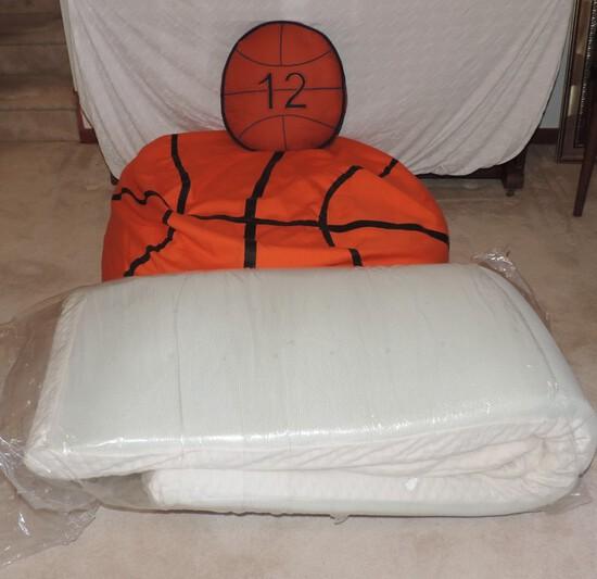 Basketball Bean Bag Chair and Comforter