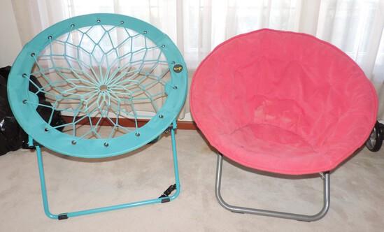 (2) Folding Papasan Chairs