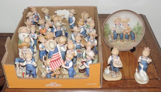 Lot of (26) Denim Day Porcelain Figures