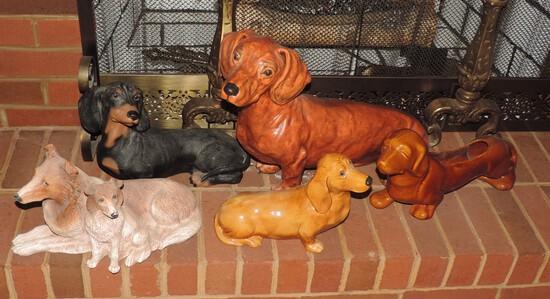Lot of Ceramic and Chalkware Hotdog Lot