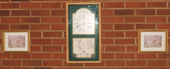 Lot of Decorative Prints and Engleham Quartz Clock