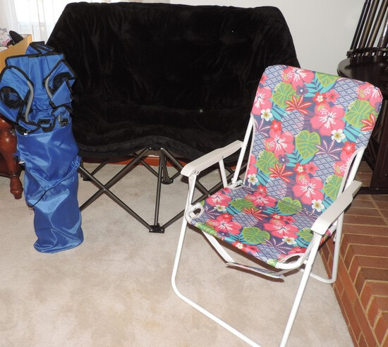 Heavy Duty 2 Seater Folding Outdoor Chair and More