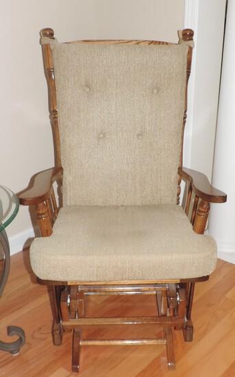Oak Gliding Rocking Chair