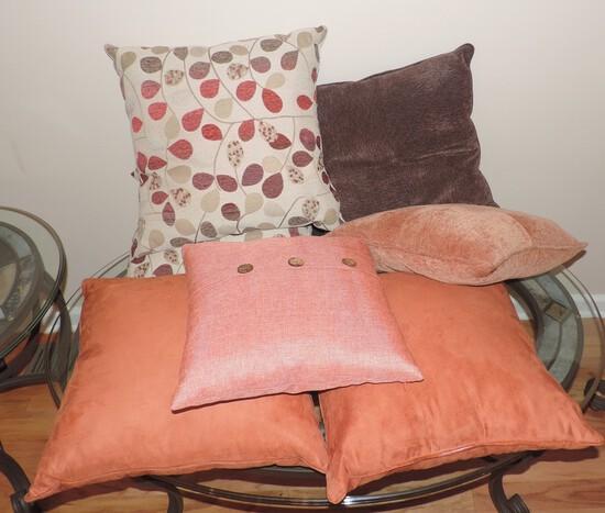 Lot of (7) Designer Throw Pillows