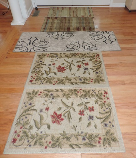 Lot of (5) Good Clean Throw Rugs