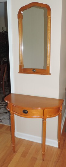 Hallway Table and Matching Mirror