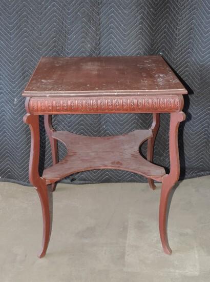 Antique Oak Bible Table