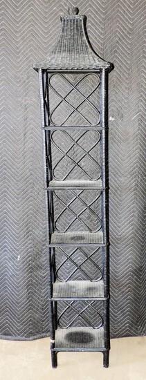 Wicker Tall Narrow Shelf