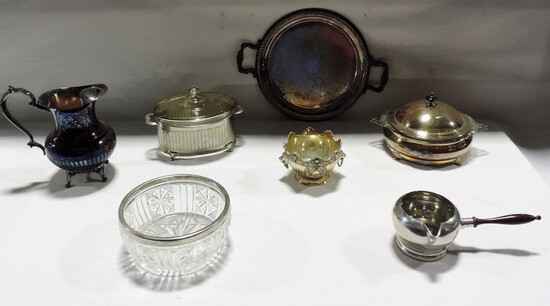 TRAY LOT SILVER PLATE SERVING WARE