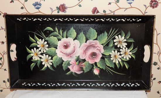 Hand-painted Tole Tray