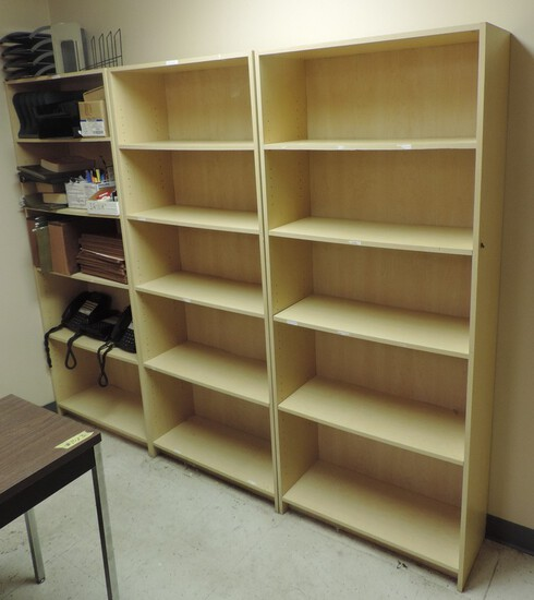 (3) Shelves With Office Supplies