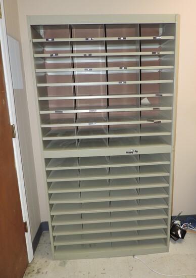 Metal 72 Hole Paper Shelf Unit