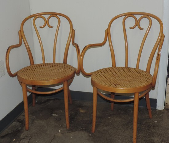 Pair Of Vintage Bentwood Chairs