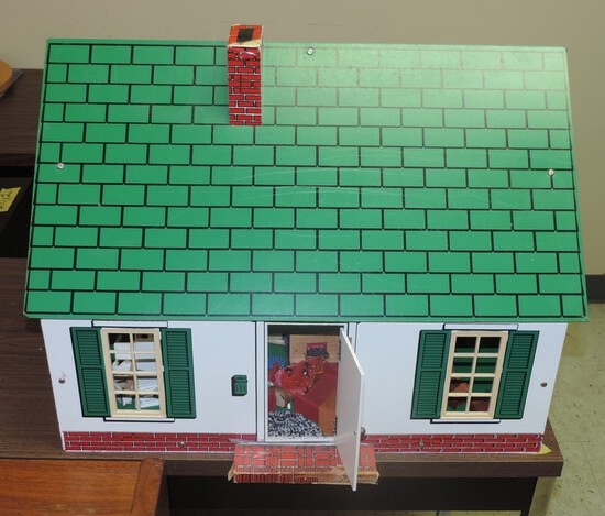 Vintage Doll House With Furnishings