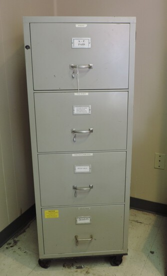 4 Drawer Fire Proof File Cabinet