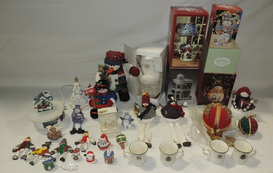 3 Tray Lots Christmas Decorations