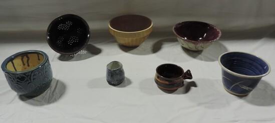 7 Pc Pottery Lot