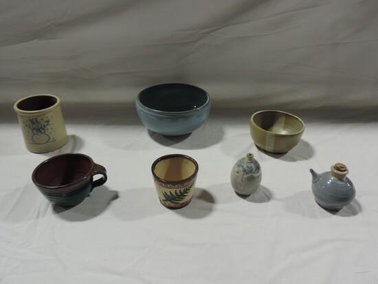 7 Pc Studio Pottery Lot