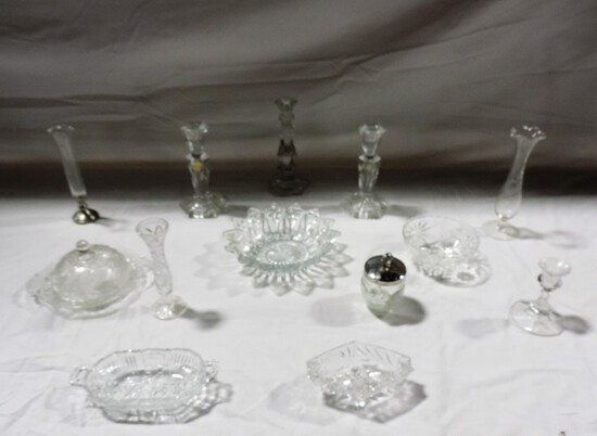 Miscellaneous Pressed Glass Lot