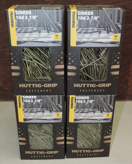 Lot of (4) 5 pound boxes of nails