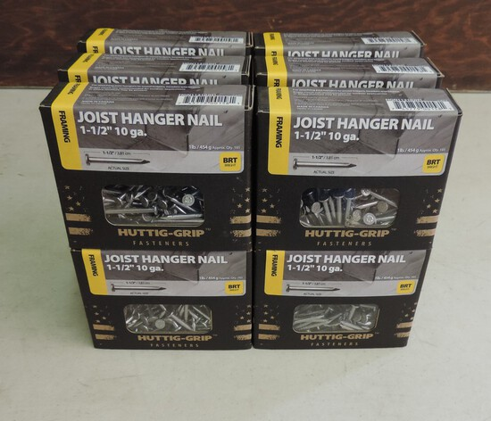 Lot of (12) I Pound  Boxes of Nails