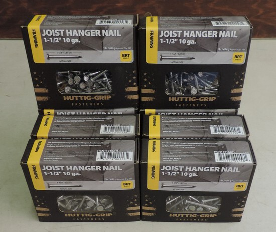 Lot of (7) 1 Pound Boxes of Nails