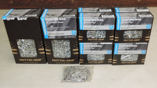 Lot of (10) Boxes of nails