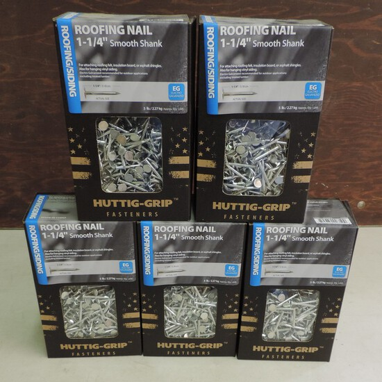 Lot of (5) 5 Pound Nails