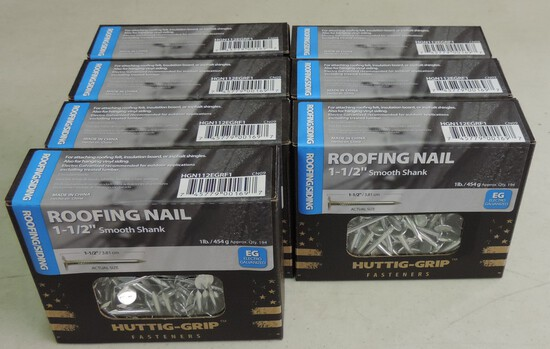 Lot of (7) 1 Pound Nails