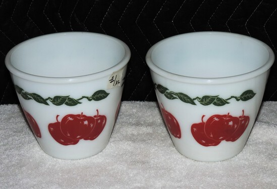 Lot of (2) Vintage Apple Glassware Bowls