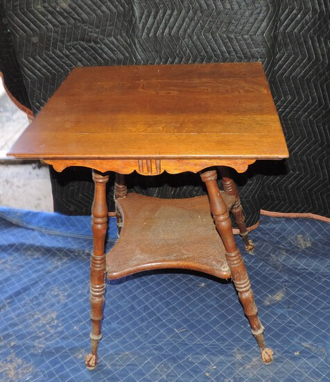 Oak Bible Table with Ball and Claw Feet