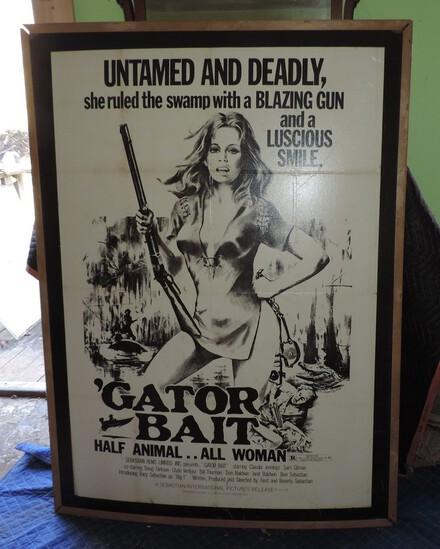 Scarce 1973 Gator Bait Movie Poster