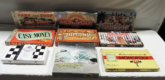 Lot Of 9 Board Games