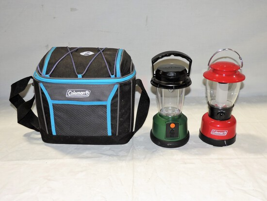 Coleman Battery Operated Lanterns in Canvas Carry Bag