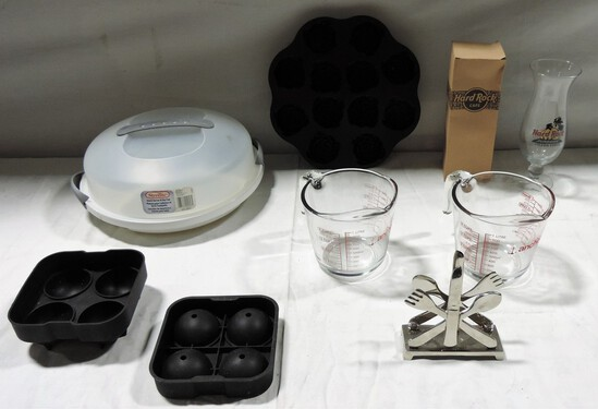 Tray Lot Kitchen Items